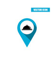 blue map pin - tray with lid icon isolated on vector image vector image