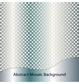 Blue steel abstract mosaic background vector image vector image