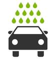 Car Wash Flat Symbol vector image vector image