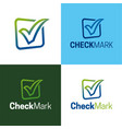check mark logo and icon vector image