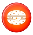 Cheeseburger icon flat style vector image vector image
