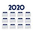 clean elegant 2020 calendar design template
