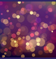 colorful bokeh background magic festive blurry vector image vector image
