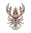 colorful lobster vector image