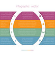colorful strips and white semicircles for text 4 vector image vector image