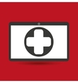computer digital healthcare cross vector image vector image
