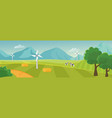 countryside landscape panorama with mountains on vector image vector image