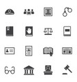 criminal law icon set vector image