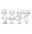 cute children cartoon vector image