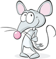 cute shy mouse isolated on white background - vector image vector image