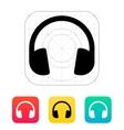 Dj Headphones icon vector image vector image