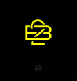 double b letters 2b monogram consist yellow lines vector image vector image