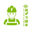 Electrician Icon With Free Bonus vector image vector image