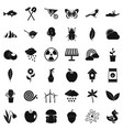 equipment icons set simple style vector image vector image