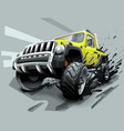 extreme off road vehicle suv dirt and bad weather vector image vector image