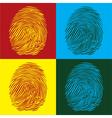 Finger Print vector image
