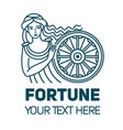 fortuna roman goddess of wealth money and fortune vector image