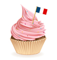 French Cupcake vector image vector image