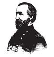 general william s rosecrans vintage vector image vector image