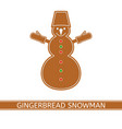 gingerbread christmas snowman vector image