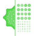 Green mandala ornament set vector image vector image