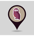 Halloween owl mapping pin icon vector image