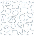 hand draw doodle speech bubbles seamless pattern vector image vector image