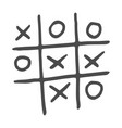 hand-drawn tic tac toe game vector image vector image