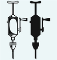 Hand drill vector image vector image