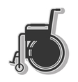 Handicap wheelchair disability vector image