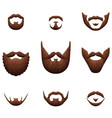 hipster beards icons photo realistic set vector image