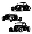 hot rod muscle cars silhouette set vector image