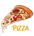 italian pizza slice pizza design template logo vector image vector image