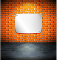 Metal screen on the brick wall vector image vector image