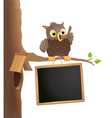 owl on a twig vector image vector image