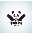 Panda Hugs Abstract Emblem or Logo Template