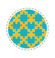 round collection puzzle solution image vector image vector image