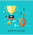 route to success concept vector image vector image