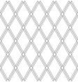 seamless diamonds pattern white geometric vector image vector image
