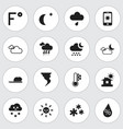 set of 16 editable climate icons includes symbols vector image vector image