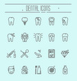 set of dental care icons dental treatment vector image vector image