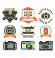 Set of photo studio labels vector image