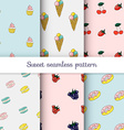 set sweet patterns collection seamless vector image