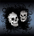 Skull tattoo background vector image