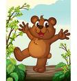Smiilng bear vector image vector image