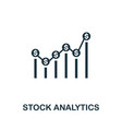 stock analytics icon creative element design from vector image vector image