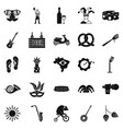 street festival icons set simple style vector image vector image