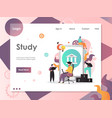 study website landing page design template vector image vector image
