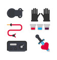tattoo salon equipment and tattooing tools vector image vector image