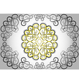 The circular ethnic pattern vector image